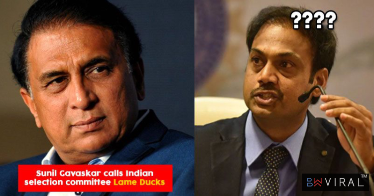 "Sunil Gavaskar Calls Selection Committee ""Lame Ducks"" & You May Agree With Him After Knowing Reason"