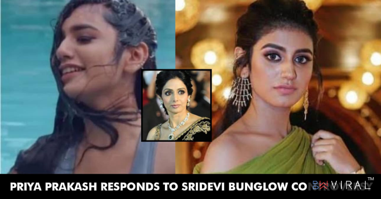 Priya Prakash AKA The Wink Girl Comments On The Sridevi Bungalow Controversy