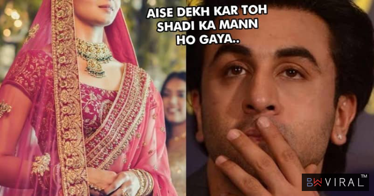 Alia Bhatt Is Seen As A Gorgeous Bride For An Ad, People Say She Is All Set To Marry Ranbir