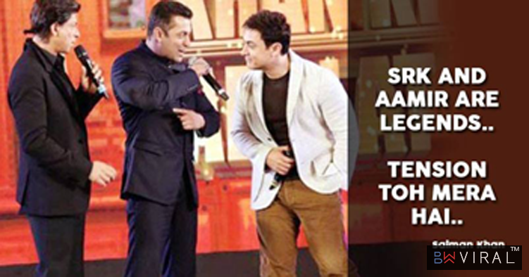 Salman Called Shah Rukh & Aamir Legends And Expressed Concern About His Career In Bollywood