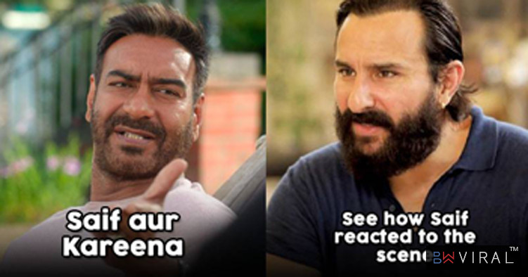 This Is How Saif Reacted On Ajay's De De Pyaar De Dialogue Taking A Dig At His Age Gap With Kareena