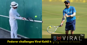 Roger Federer Challenges Indian Skipper Virat Kohli To Play Tennis & Share Video