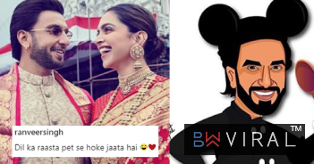 Ranveer Singh Turns Into Mickey Mouse With Pot Belly, Thanks To 'Minnie' Deepika's Cooking