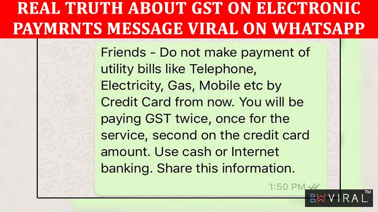 You'll Have To Pay Double GST On Credit Card Payments! Here's The Truth Behind This Viral News