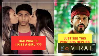 SRK SAYS HE WOULD TEAR OFF ARYAN'S LIPS IF HE KISSED A GIRL