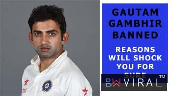 Gautam Gambhir Gets A Four-Match Ban